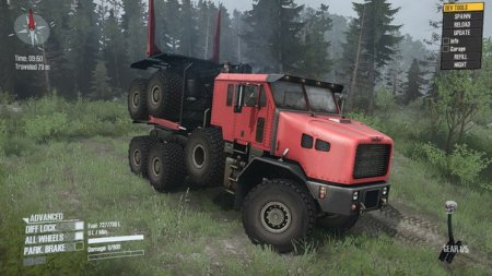 Скачать мод грузовик Oshkosh M1070 HET для Spintires MudRunner