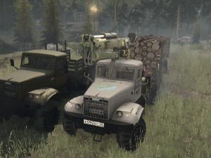 Скачать мод грузовик Краз-255 для Spintires MudRunner