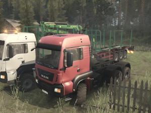 Скачать мод грузовик MAN TGS версия 07.12.17 для Spintires MudRunner