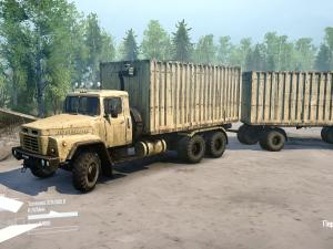 Скачать мод ПАК грузовиков Краз 6x4 для Spintires MudRunner
