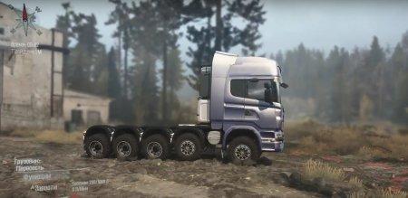 Скачать мод грузовик Scania R730 10x10 для Spintires MudRunner