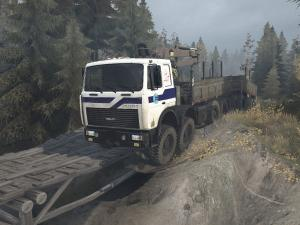 Скачать мод грузовик МЗКТ-7401 для Spintires MudRunner