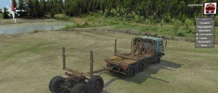 Скачать мод грузовик КамАЗ-53504 Лесовоз версия 13.04.18 для Spintires v. 03.03.16