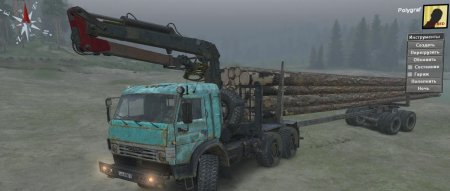 Скачать мод грузовик КамАЗ-53504 Лесовоз версия 13.04.18 для Spintires v. 0 ...