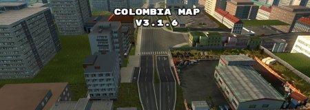 Скачать мод карта Colombia Map v.3.1.6 для Euro Truck Simulator 2 v. 1.30