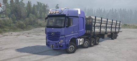 Скачать мод грузовик Mercedes-Benz Actros 4163 SLT MP4 для Spintires MudRunner