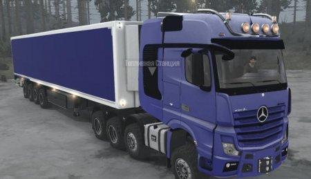 Скачать мод грузовик Mercedes-Benz Actros 4163 SLT MP4 для Spintires MudRun ...