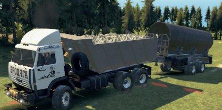 Скачать мод грузовик Камаз-65111 версия 4.0 для Spintires v. 03.03.16