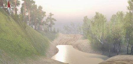 Скачать мод карта «Flood on Oranges Tree Valley» для Spintires v. 03.03.16