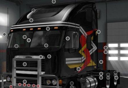 Скачать мод грузовик Freightliner Argosy v.2.3.2 для Euro Truck Simulator 2 ...