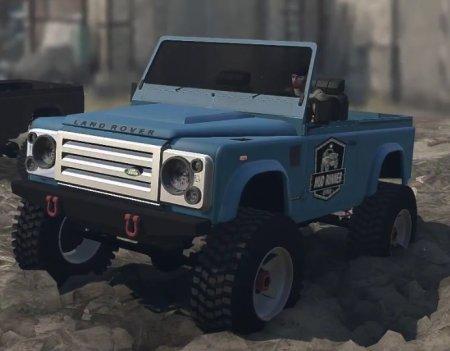 Скачать мод Land Rover Defender для Spintires MudRunner