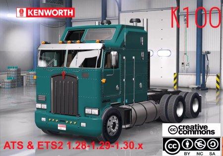 Скачать мод грузовик Kenworth K100 v.10.05.18 для Euro Truck Simulator 2 v. 1.31