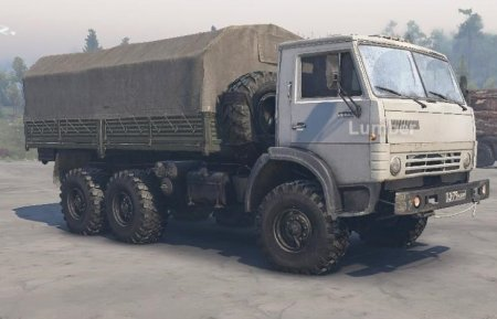 Скачать мод грузовик Камаз 43101 для Spintires v. 03.03.16