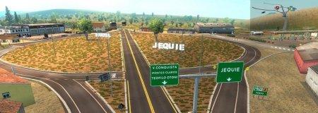 Скачать мод карта Бразилии «EAA Normal» v.4.6 для Euro Truck Simulator 2 v. ...