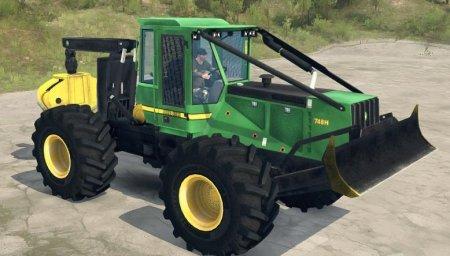 Скачать мод трактор John Deere 748H Skidder версия 08.08.18 для Spintires M ...