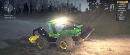 Скачать мод трактор John Deere 748H Skidder версия 08.08.18 для Spintires MudRunner