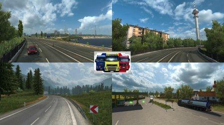 Скачать мод карта Румынии для Euro Truck Simulator 2 v. 1.31