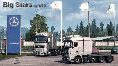 Скачать мод грузовик Mercedes-Benz Big Stars Actros/Arocs SLT v.1.5.3.2 для ...