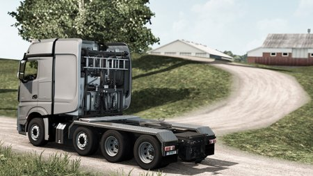 Скачать мод грузовик Mercedes-Benz Big Stars Actros/Arocs SLT v.1.5.3.5 для Euro Truck Simulator 2 v. 1.33