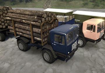 Скачать мод грузовик КАЗ-4540 «Колхида» для Spintires MudRunner