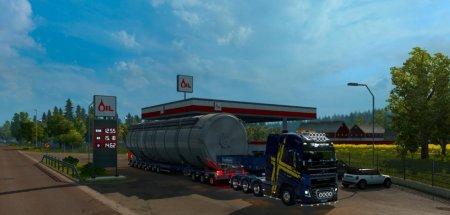 Скачать мод грузовик Volvo FH 2012 + двойные прицепы v.02.09.18 для Euro Truck Simulator 2 v. 1.32