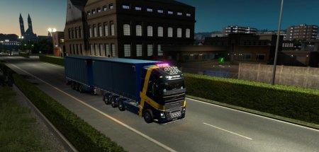 Скачать мод грузовик Volvo FH 2012 + двойные прицепы v.02.09.18 для Euro Tr ...