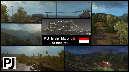 Скачать мод карта «PJ Indo» v.2.5 для Euro Truck Simulator 2 v. 1.32