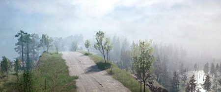 Скачать мод карта «Пересекая горы» для Spintires MudRunner
