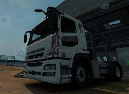 Скачать мод грузовик Mitsubishi FusoSuper Great V v.1.320 для Euro Truck Simulator 2 v. 1.32