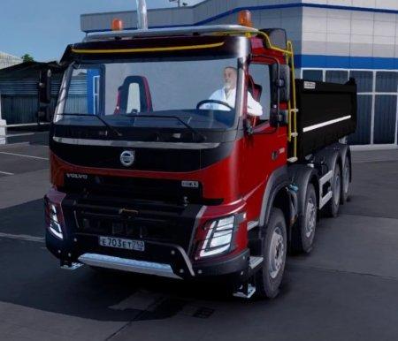 Скачать мод грузовик Volvo FMX версия 1.1 для Euro Truck Simulator 2 v. 1.3 ...