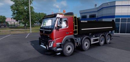 Скачать мод грузовик Volvo FMX версия 1.1 для Euro Truck Simulator 2 v. 1.31-1.32