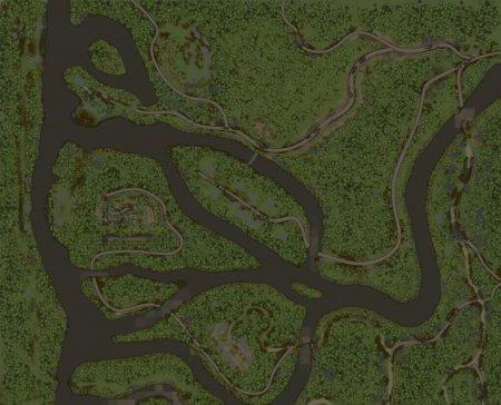 Скачать мод карта «Преодолевая броды» для Spintires MudRunner
