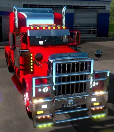 Скачать мод грузовик Peterbilt 379 v.2.7 для Euro Truck Simulator 2 v. 1.32