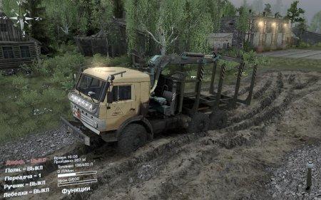 Скачать мод грузовик КамАЗ-43114 для Spintires v. 03.03.16