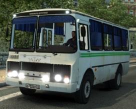 Скачать мод автобус ПАЗ-32054 плюс Fix для Euro Truck Simulator 2 v. 1.27,  ...