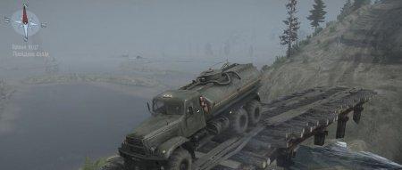 Скачать мод карта «Гора, река, Ленин и дрова» для Spintires MudRunner