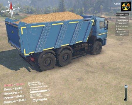 Скачать мод ПАК грузовиков Камаз-6522/65111 для Spintires v. 03.03.16