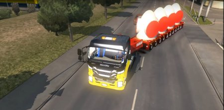 Скачать мод грузовик Isuzu Giga для Euro Truck Simulator 2 v. 1.27