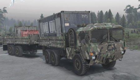 Скачать мод грузовик Man Cat 1 SVE для Spintires v. 03.03.16