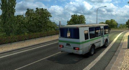 Скачать мод автобус ПАЗ-32054 плюс Fix для Euro Truck Simulator 2 v. 1.27, 1.31