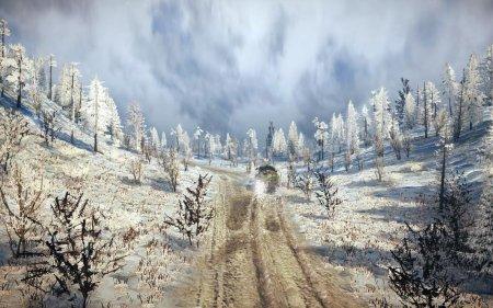 Скачать мод карта «Snow Hills» для Spintires MudRunner