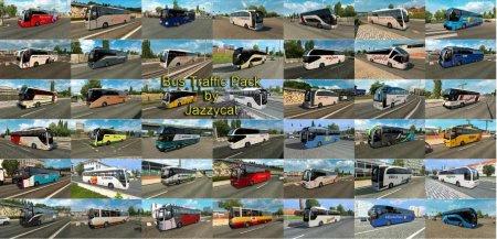 Скачать мод пак автобусов Bus Traffic Pack версия 5.8 для Euro Truck Simulator 2 v. 1.30-1.33
