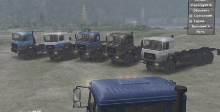 Скачать мод ПАК грузовиков УРАЛ-М для Spintires v. 03.03.16