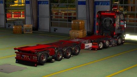Скачать мод ПАК прицепов «Krone Container 4axe» для Euro Truck Simulator 2 v. 1.32-1.33