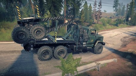 Скачать мод грузовик КрАЗ 6322 для Spintires MudRunner