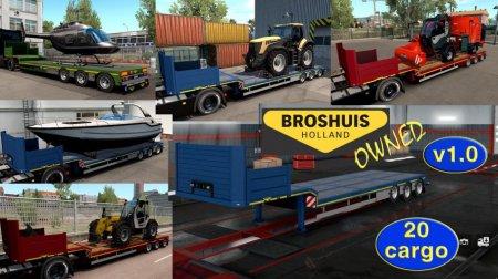 Скачать мод прицеп «Ownable Trailer Broshuis» для Euro Truck Simulator 2 v. ...