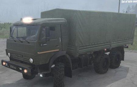 Скачать мод грузовик Камаз 4350 5350 для Spintires MudRunner