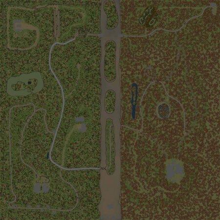 Скачать мод карта «Тайга» для Spintires MudRunner