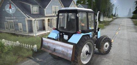 Скачать мод трактор МТЗ 1221 для Spintires MudRunner
