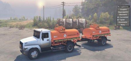 Скачать мод грузовик Газ 33077 4x2 для Spintires v. 03.03.16